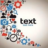 Social Media Icons Background Illustration