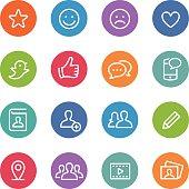Social Media Icons - Circle Line Series