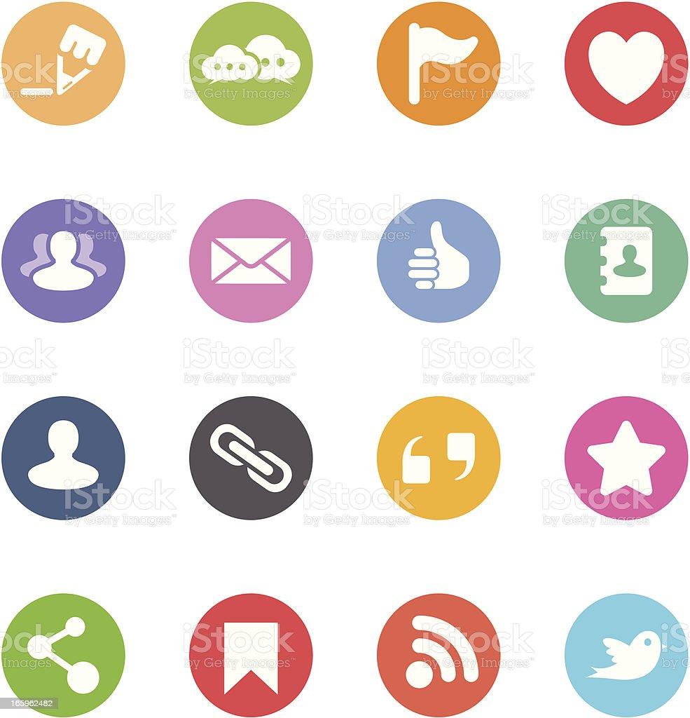 Social Media Icons - Circle royalty-free social media icons circle stock vector art & more images of adult