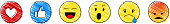 Social media icons - collection of emoticons. Vector.