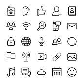 Social Media Icons - MediumX Line Vector EPS File.