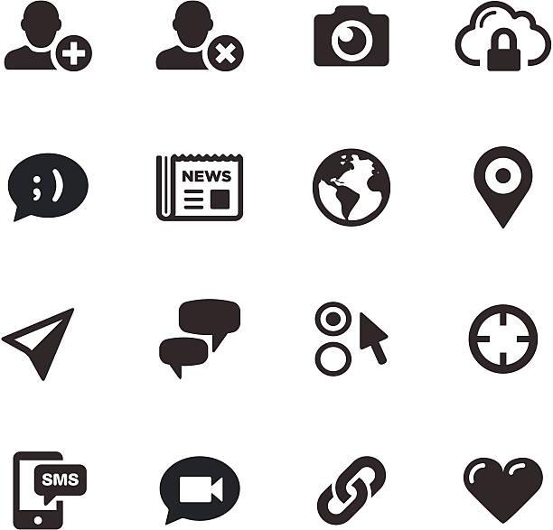 bildbanksillustrationer, clip art samt tecknat material och ikoner med social media icons | mono series - chain studio