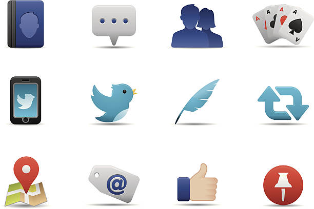 social media icons   premium matte series - whatsapp stock illustrations, clip art, cartoons, & icons