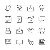 Social Media Icons set 1 | Black Line series