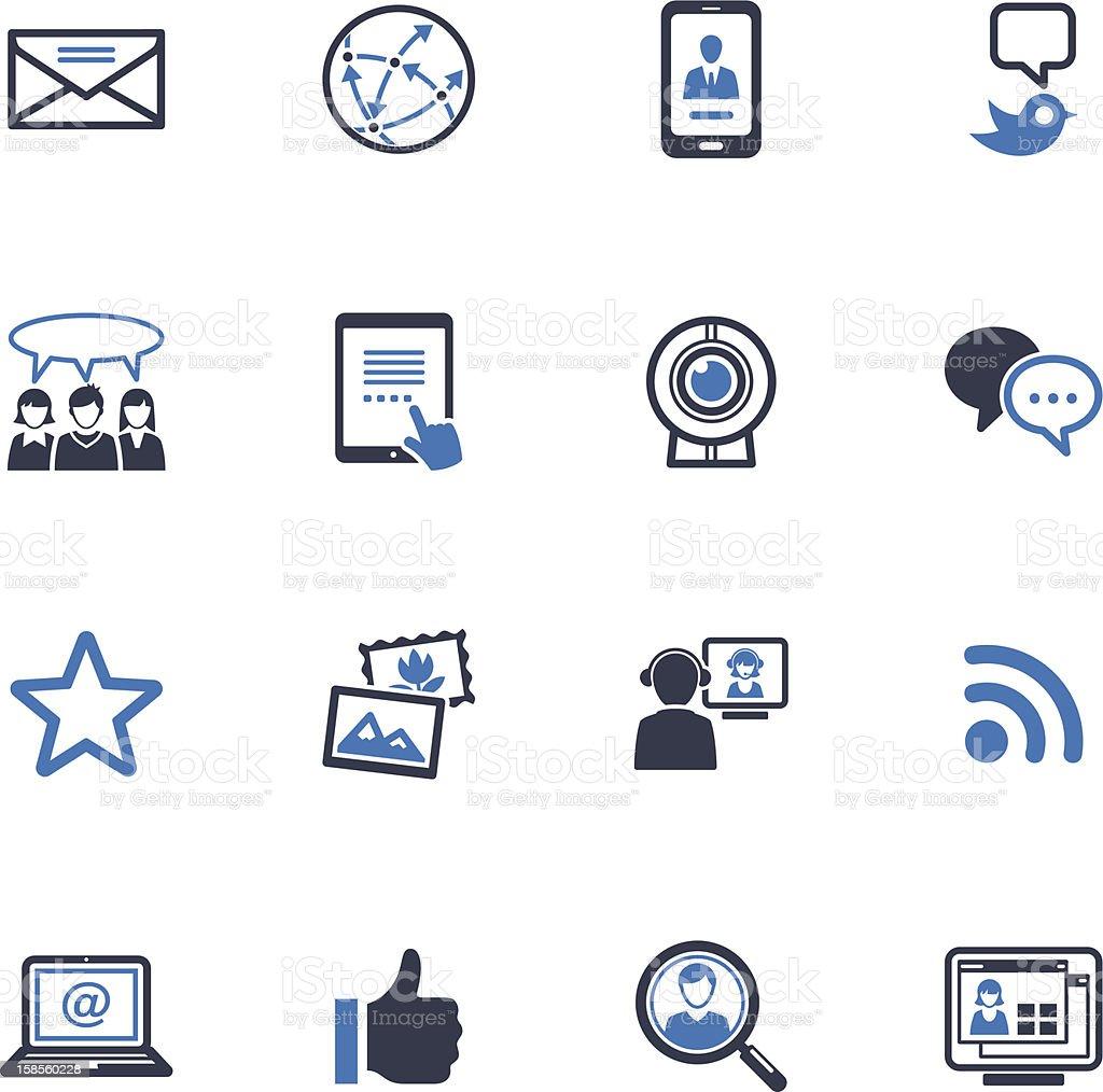 소셜 미디어 아이콘 세트 1-블루 시리즈 royalty-free 소셜 미디어 아이콘 세트 1블루 시리즈 검색에 대한 스톡 벡터 아트 및 기타 이미지