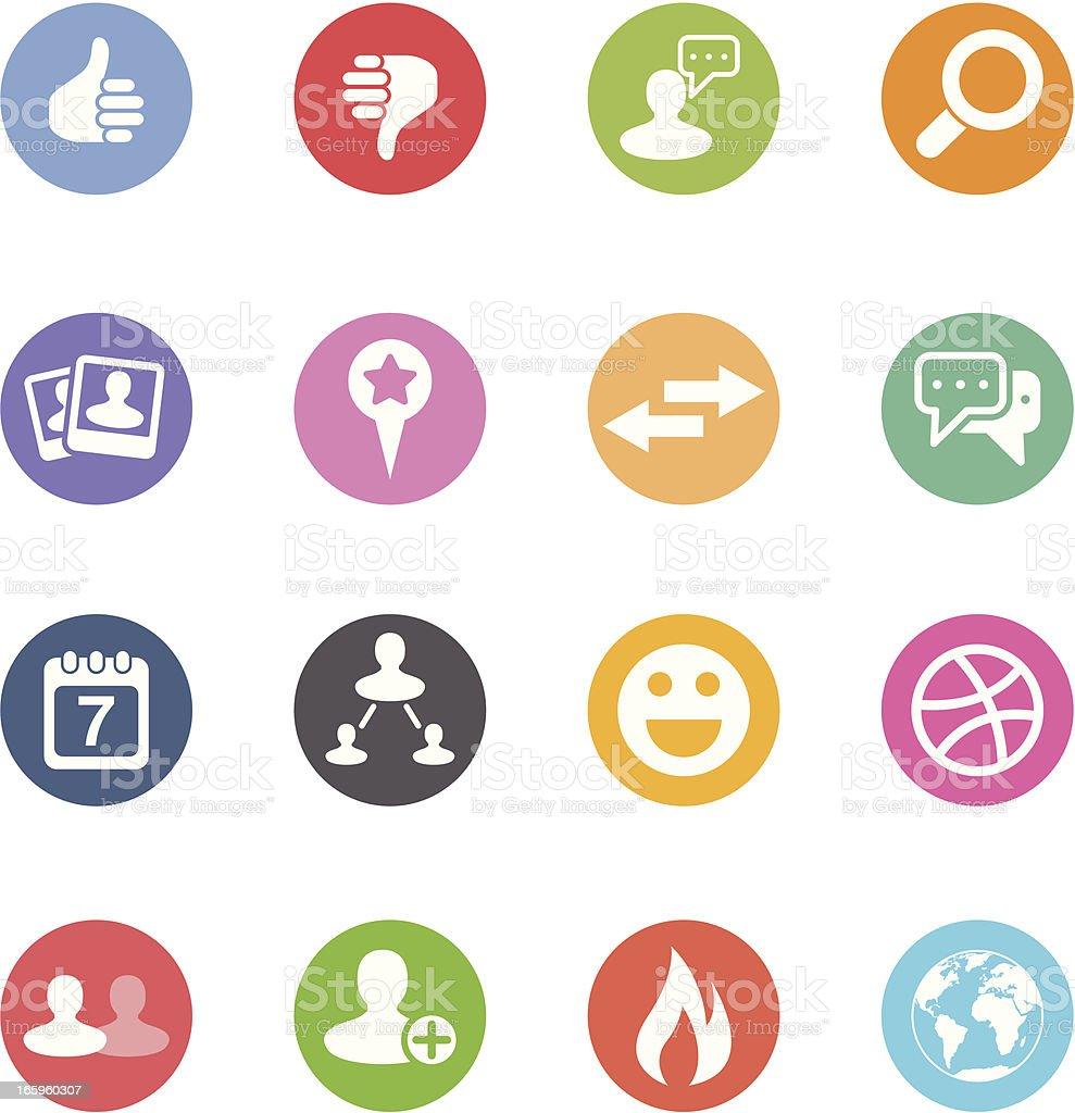 Social Media Icons   Set 2 - Circle royalty-free stock vector art