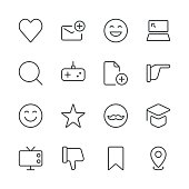 Social Media Icons set 3 | Black Line series