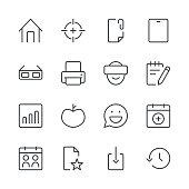 Social Media Icons set 4 | Black Line series