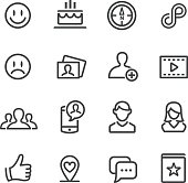 Social Media Icons Set - Line Series
