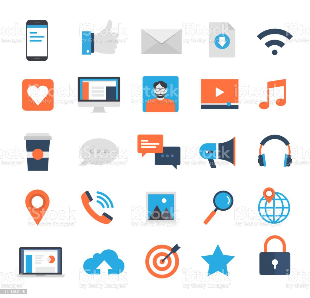 Social Media Icons Set Stock Illustration Download Image Now Istock