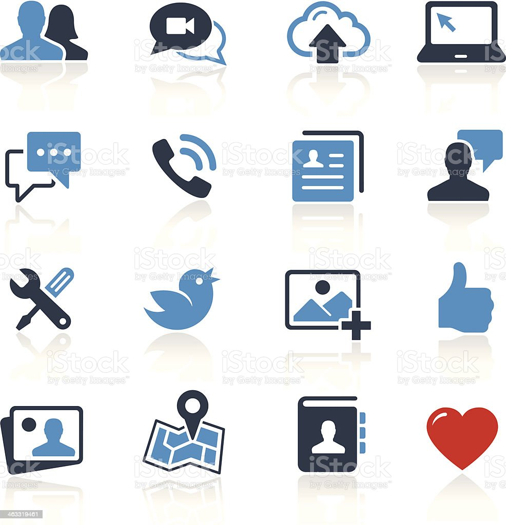 Social Media Icons Two Color | Pro Series vector art illustration
