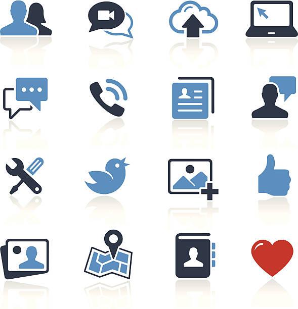 ilustrações de stock, clip art, desenhos animados e ícones de ícones de redes sociais em duas cores/série profissional - video call