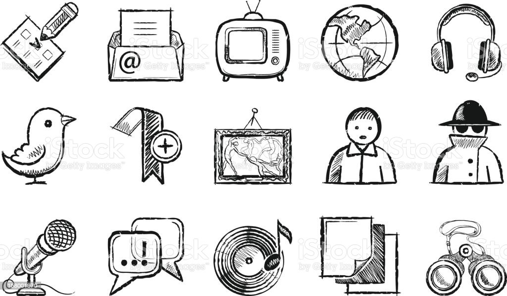 Social-Media-Symbole – Vektorgrafik