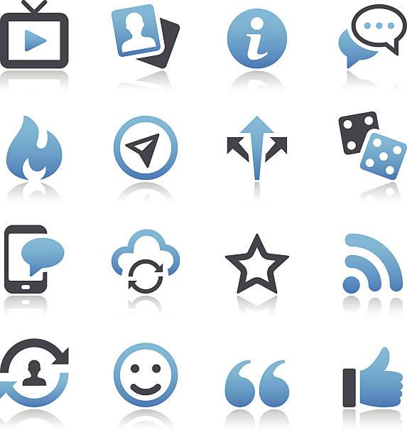 social-media-symbole - fotografieanleitungen stock-grafiken, -clipart, -cartoons und -symbole