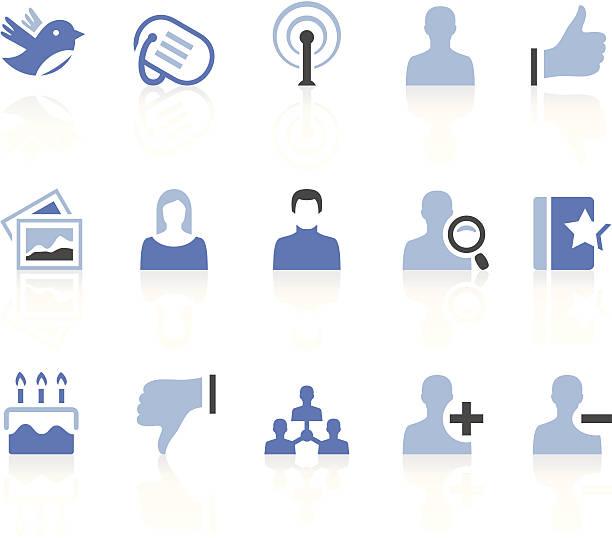 bildbanksillustrationer, clip art samt tecknat material och ikoner med social media icons - profile photo