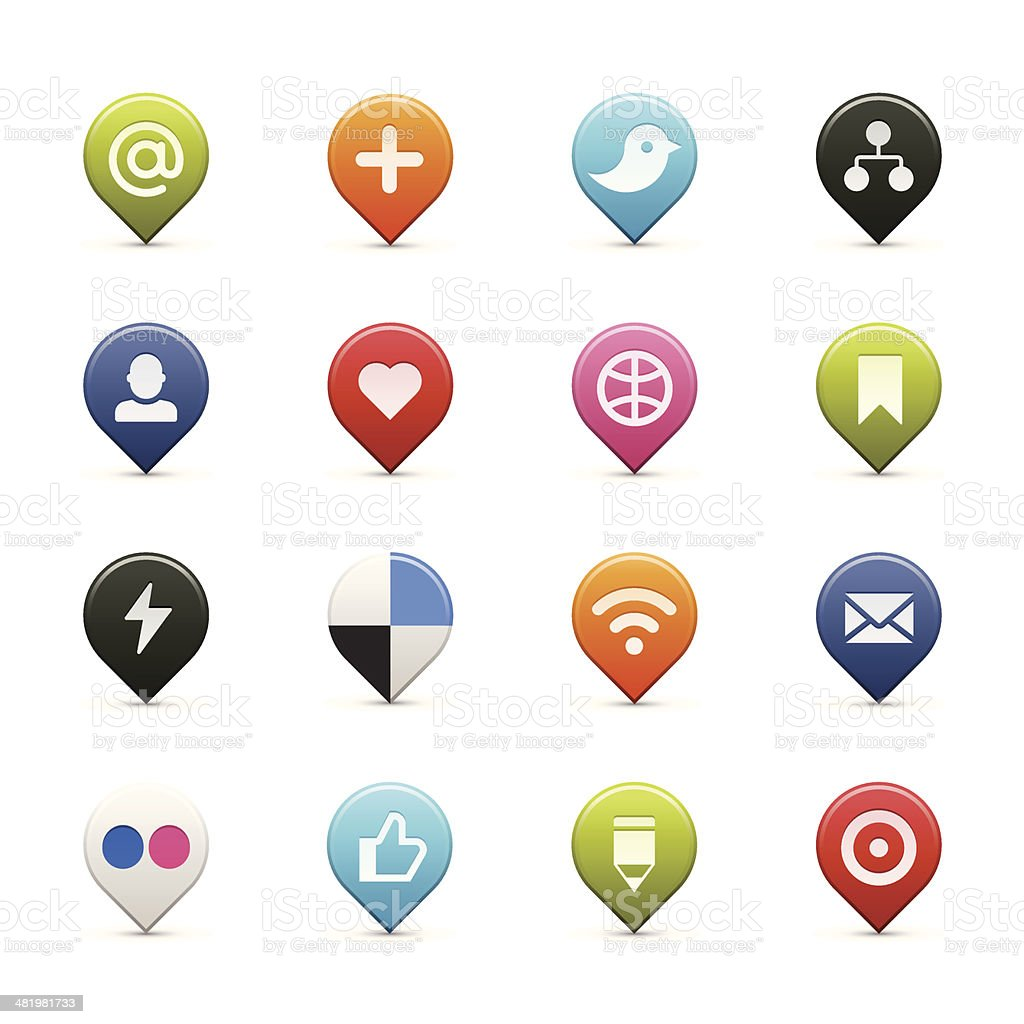 Social media icons royalty-free social media icons stock vector art & more images of 'at' symbol