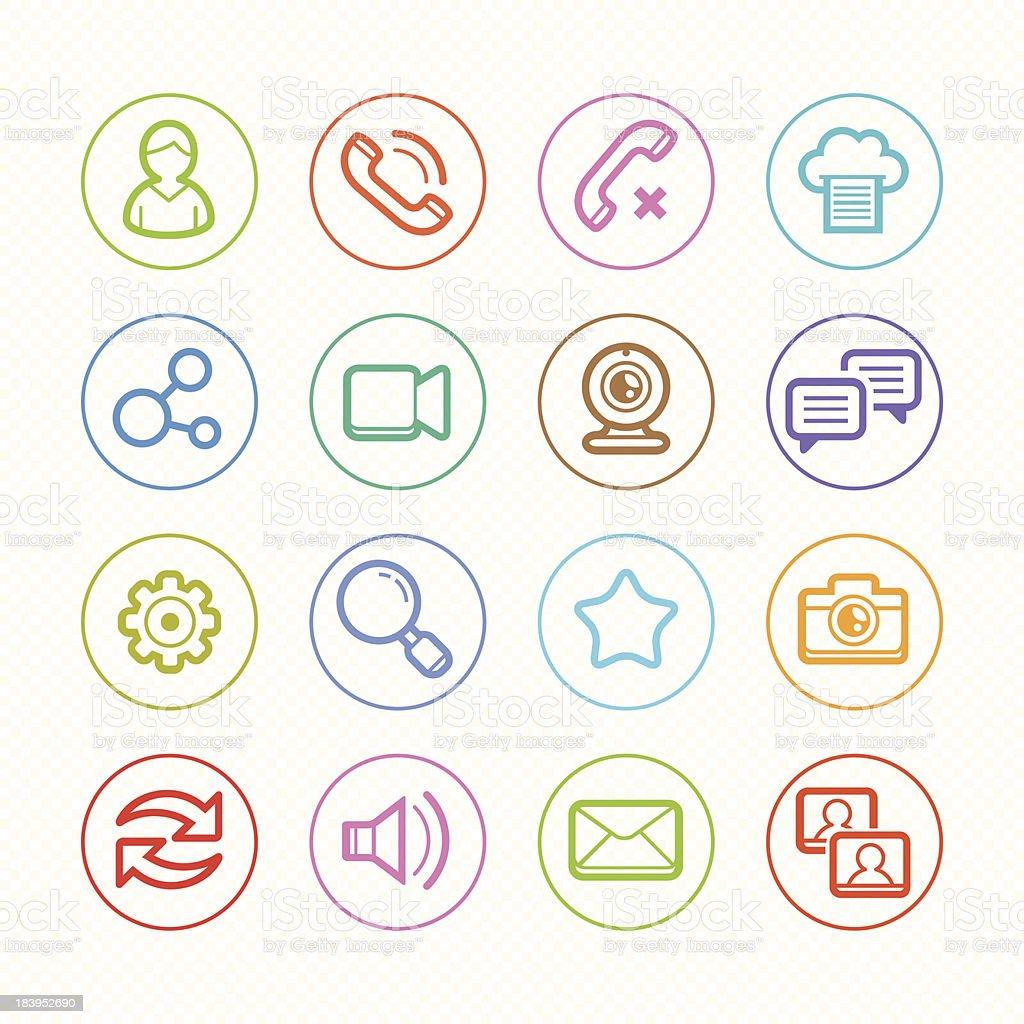 Social Media line color icons set #2 Vector illustration royalty-free stock vector art