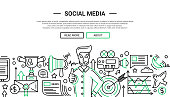 Social Media - line design website banner temlate
