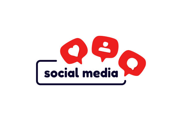 Social media logo template with like, follower, comment icons. Social media logo template with like, follower, comment icons social media icons stock illustrations