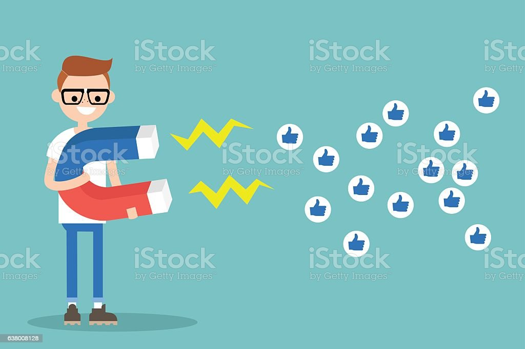 Social media marketing concept vector art illustration