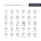 29 Social Media Marketing Icons - Editable Stroke - Easy to edit and customize - You can easily customize the stroke with