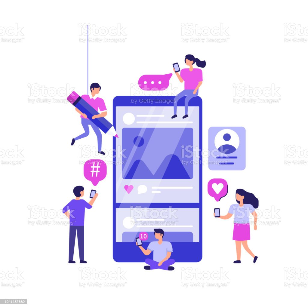 social media marketing royalty-free social media marketing stock illustration - download image now