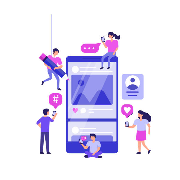 소셜 미디어 마케팅 - social media stock illustrations