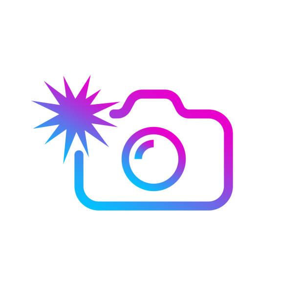 Social media modern digital camera icon, symbol, web, ui. Vector illustration. EPS 10 vector art illustration