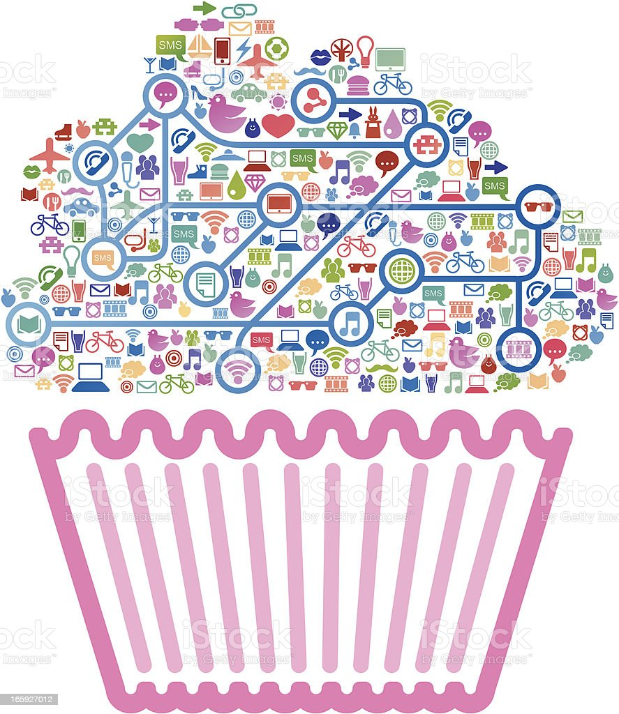 Social media muffin royalty-free social media muffin stock vector art & more images of abstract