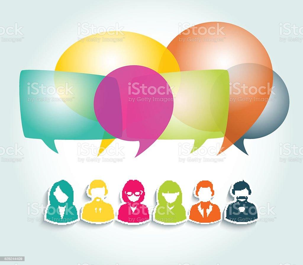 Social media network illustration vector art illustration