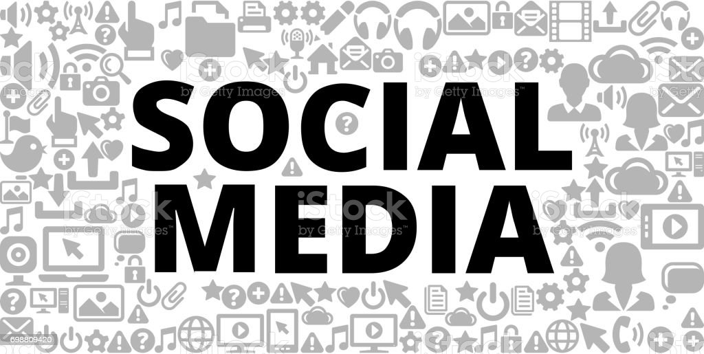 Social Media On Technology Internet Communications Vector Icon Background Royalty Free