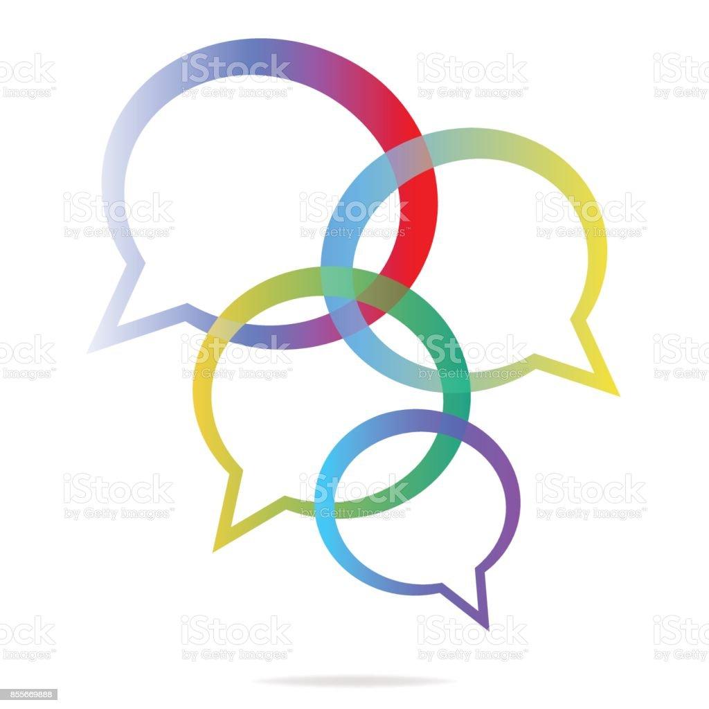 Social media online messaging illustration