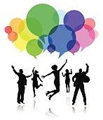 Social Media People Celebration