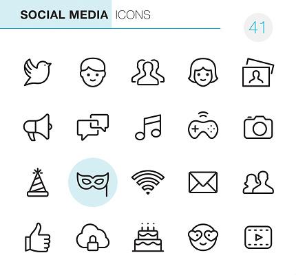 Social Media - Pixel Perfect icons