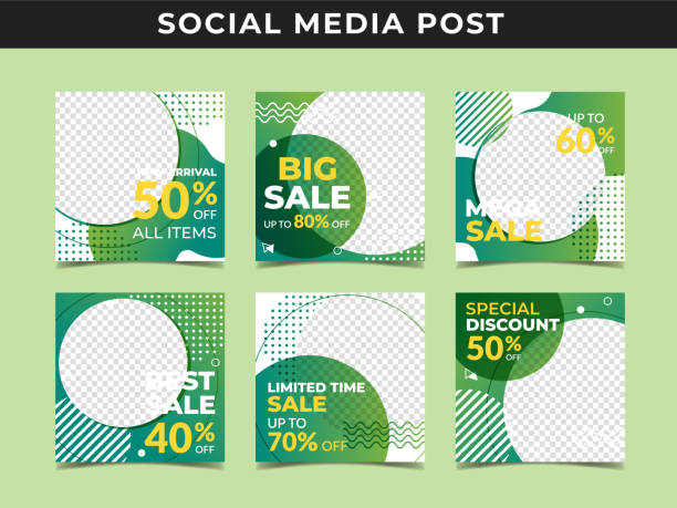 illustrations, cliparts, dessins animés et icônes de drapeau de poteau de médias sociaux vol.3 - infographie médias sociaux
