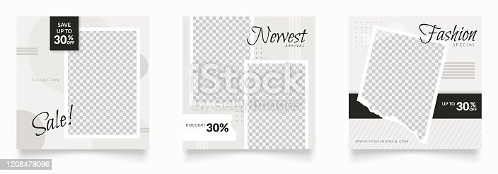 istock social media post template bundle. frame design for banner and poster. internet marketing flyer design for sale and discount promo 1208479096