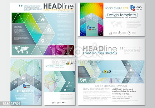 Social Media Posts Set Business Templates Cover Template Easy - Social media post template