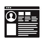 istock Social Media Profile Glyph Icon 1304977789
