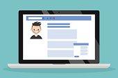 Social media profile page