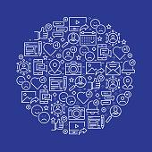 Social Media Related Pattern Design