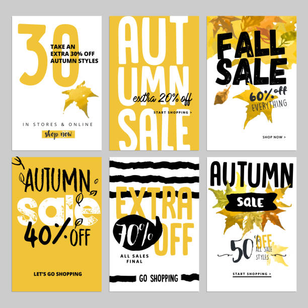 Social media sale banners, and ads web template set - Illustration vectorielle
