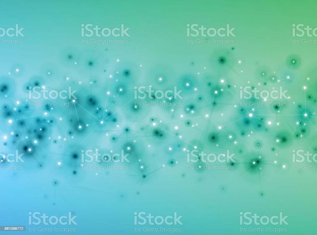 Social media science technology background vector art illustration