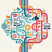 Social Media Seamless Pattern Concept