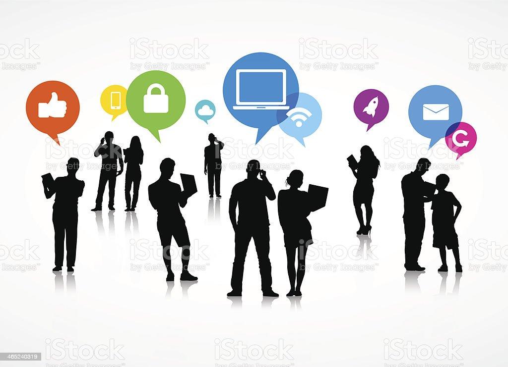 Social Media Speech Bubble Vector  Adult stock vector