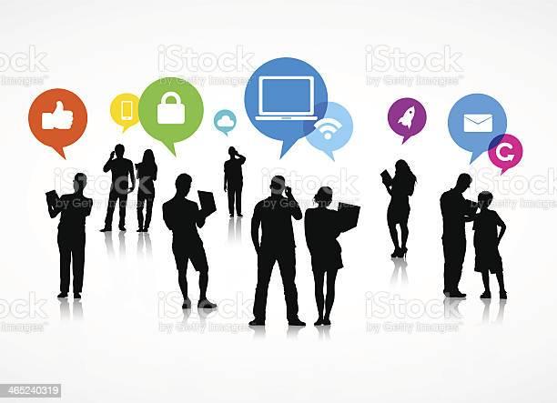 Social Media Speech Bubble Vector Stock Illustration - Download Image Now