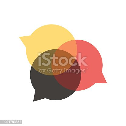 Vector illustration of a set of social media speech bubbles