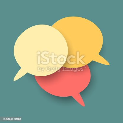 Vector illustration of a set of social media speech bubbles and text balloons