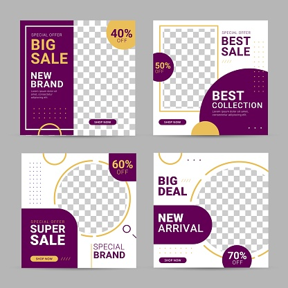 Social media square banner post template ad