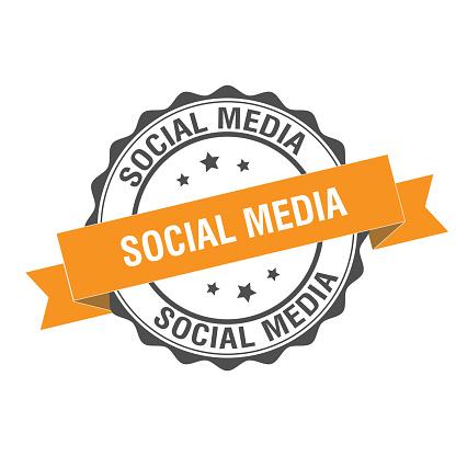 Social media stamp illustration