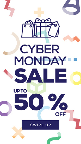 Social Media Stories Page Sale Banner Background - CYBER MONDAY